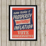 Now make it prosperity without inflation Black Framed Print (Lifestyle)