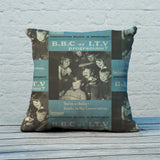 Press advertisements. BBC or ITV programme? Feather Cushion (Lifestyle)