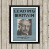 Press advertisements. Leading Britain Black Framed Print (Lifestyle)
