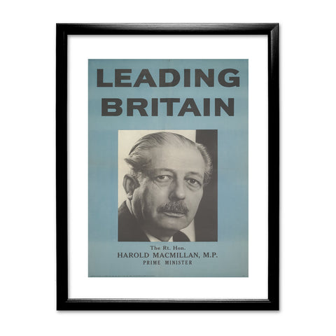 Press advertisements. Leading Britain Black Framed Print