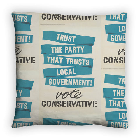 Trust the Party that trusts local government! Feather Cushion