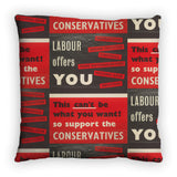 Labour offers you restrictions Feather Cushion