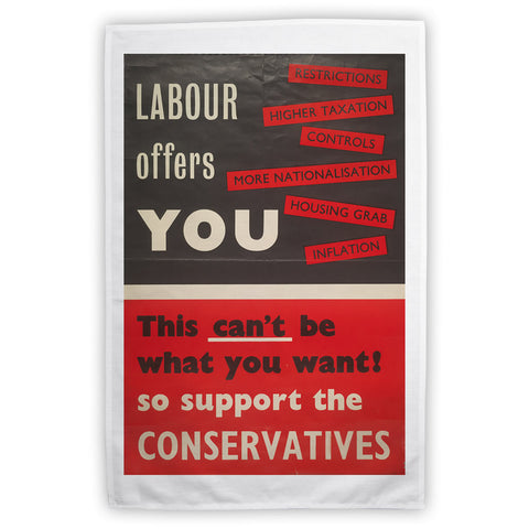 Labour offers you restrictions Tea Towel