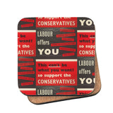 Labour offers you restrictions Cork Coaster