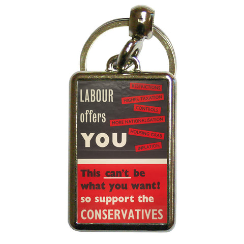 Labour offers you restrictions Metal Keyring