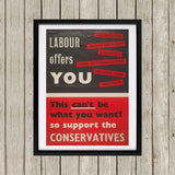 Labour offers you restrictions Black Framed Print (Lifestyle)