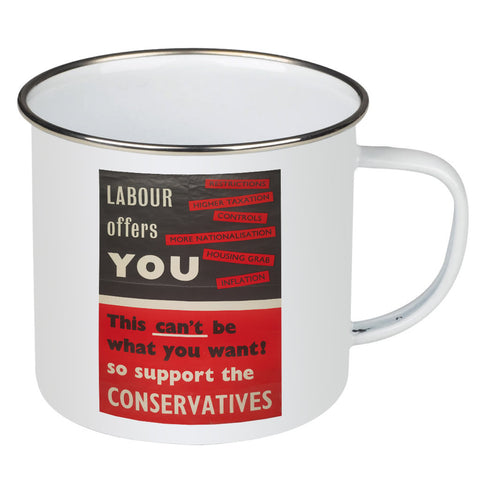 Labour offers you restrictions Enamel Mug