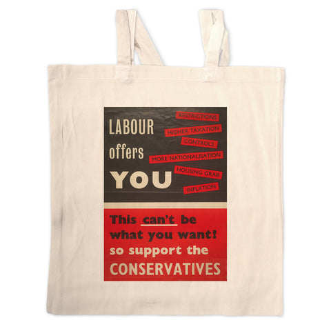 Labour offers you restrictions Long Handled Tote Bag