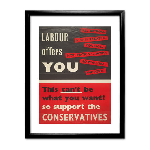 Labour offers you restrictions Black Framed Print