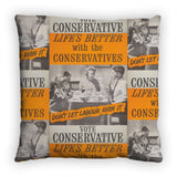 Life's better with the Conservatives Feather Cushion