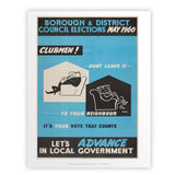 Borough and district council elections Art Print