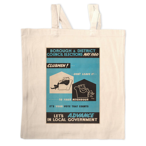 Borough and district council elections Long Handled Tote Bag