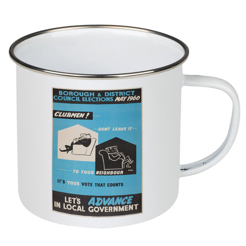 Borough and district council elections Enamel Mug