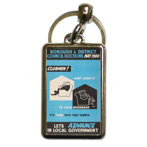 Borough and district council elections Metal Keyring