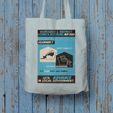Borough and district council elections Long Handled Tote Bag (Lifestyle)