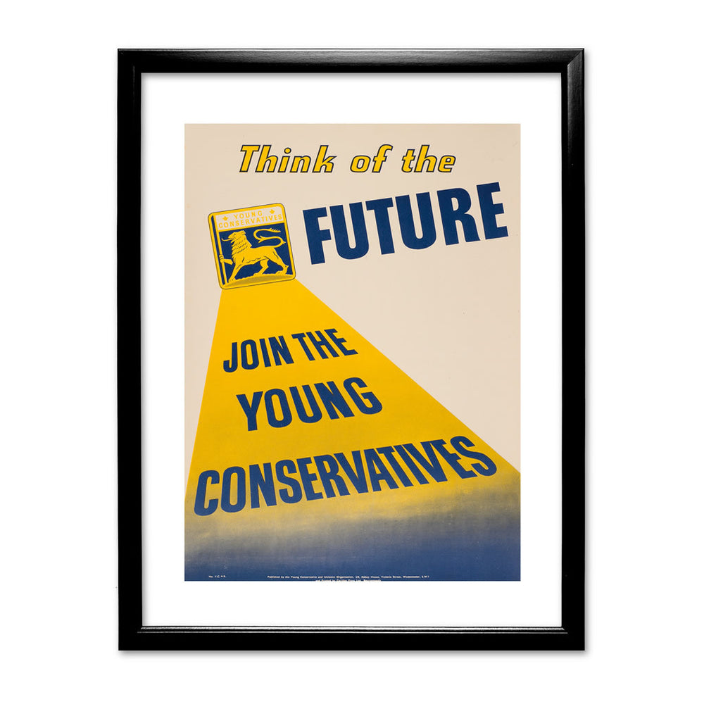 Think of the future Black Framed Print