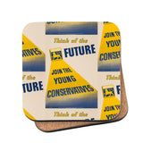 Think of the future Cork Coaster
