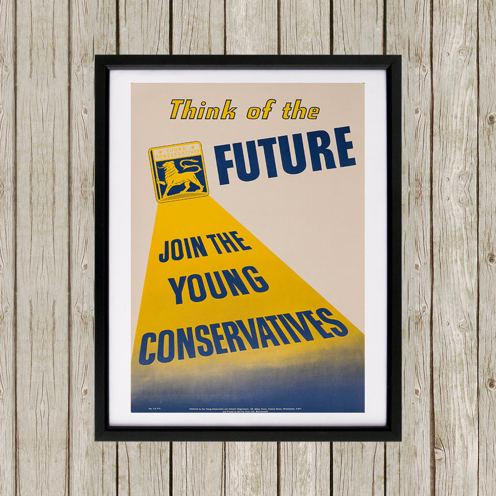 Think of the future Black Framed Print (Lifestyle)
