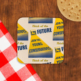 Think of the future Cork Coaster (Lifestyle)