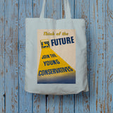 Think of the future Long Handled Tote Bag (Lifestyle)