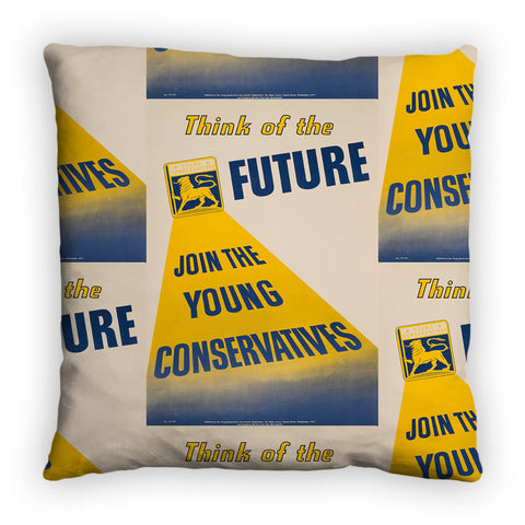 Think of the future Feather Cushion