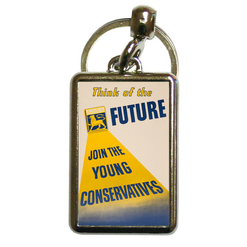 Think of the future Metal Keyring