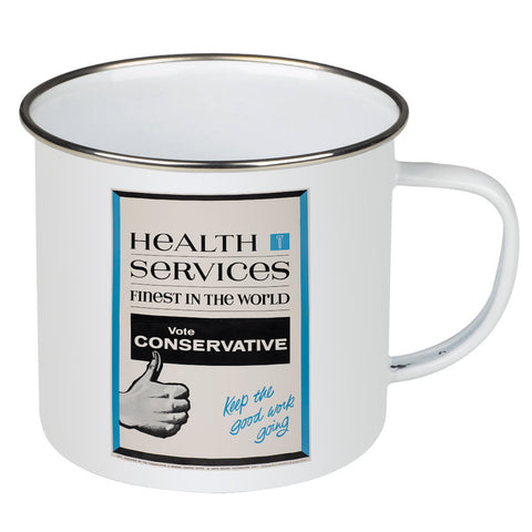 Health Services Enamel Mug
