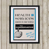 Health Services Black Framed Print (Lifestyle)