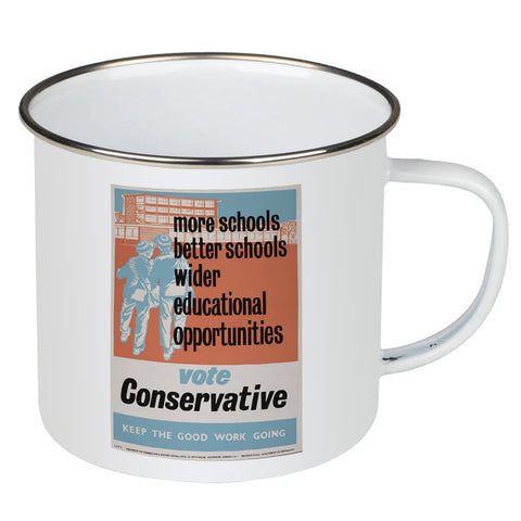 More schools, better schools, wider educational opportunities Enamel Mug