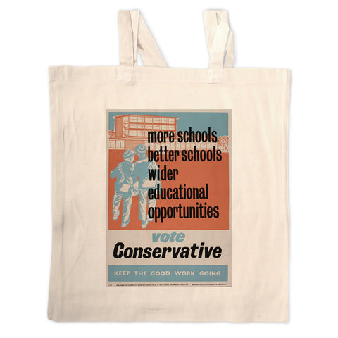 More schools, better schools, wider educational opportunities Long Handled Tote Bag