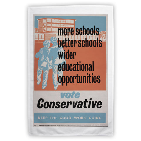 More schools, better schools, wider educational opportunities Tea Towel