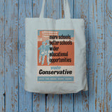 More schools, better schools, wider educational opportunities Long Handled Tote Bag (Lifestyle)