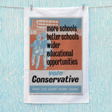 More schools, better schools, wider educational opportunities Tea Towel (Lifestyle)