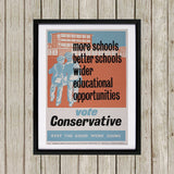 More schools, better schools, wider educational opportunities Black Framed Print (Lifestyle)