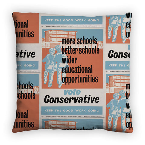 More schools, better schools, wider educational opportunities Feather Cushion