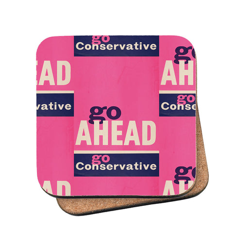 Go ahead Cork Coaster
