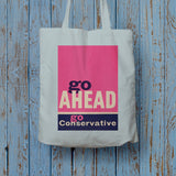 Go ahead Long Handled Tote Bag (Lifestyle)
