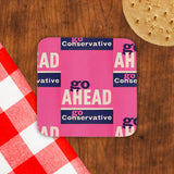 Go ahead Cork Coaster (Lifestyle)