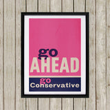 Go ahead Black Framed Print (Lifestyle)