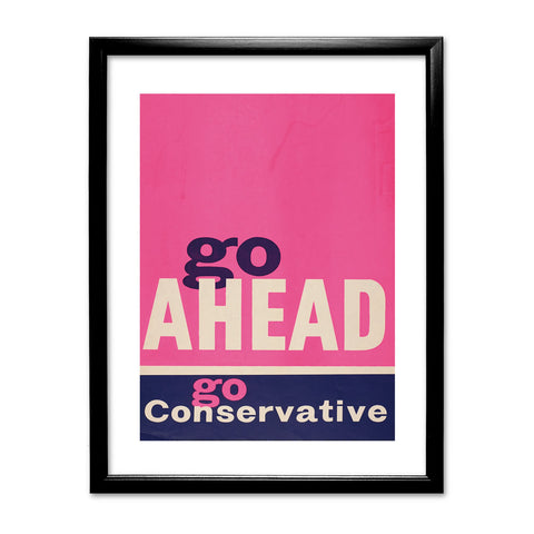 Go ahead Black Framed Print