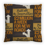 Build with the Conservatives Feather Cushion