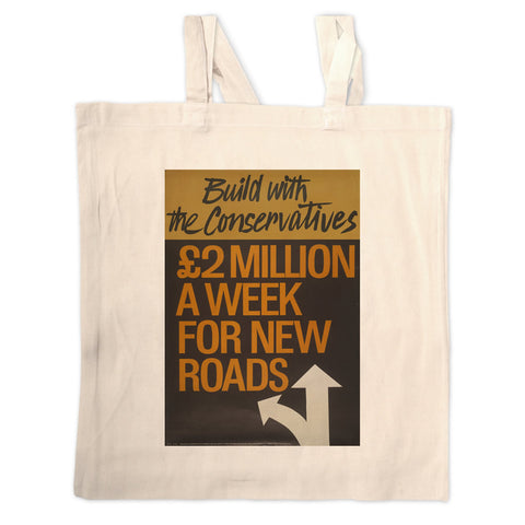 Build with the Conservatives Long Handled Tote Bag
