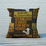 Build with the Conservatives Feather Cushion (Lifestyle)
