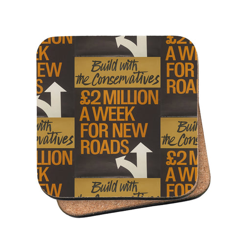 Build with the Conservatives Cork Coaster