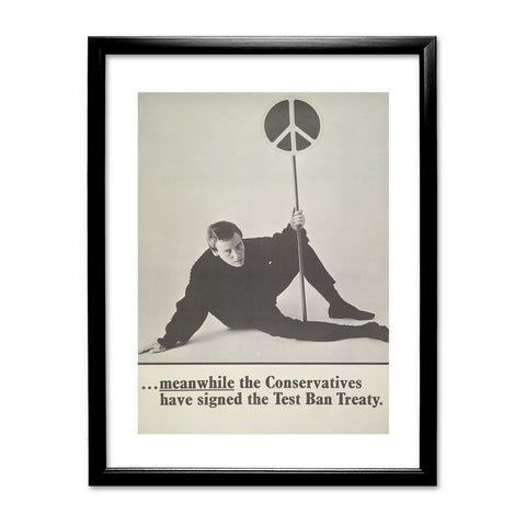 Meanwhile the Conservatives have signed the Test Ban Treaty Black Framed Print