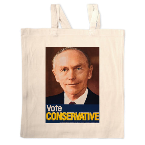 Vote Conservative (Douglas Home) Long Handled Tote Bag