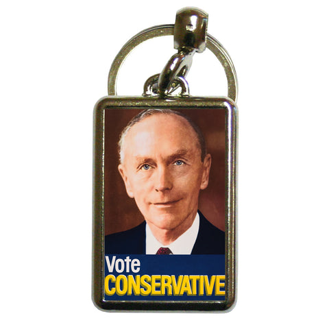 Vote Conservative (Douglas Home) Metal Keyring