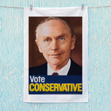 Vote Conservative (Douglas Home) Tea Towel (Lifestyle)