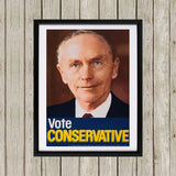 Vote Conservative (Douglas Home) Black Framed Print (Lifestyle)