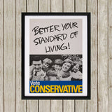 Better your standard of living! Black Framed Print (Lifestyle)